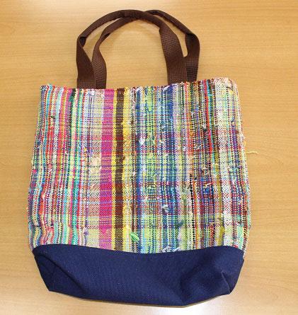 さをり織りバッグ製品